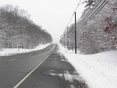 Snowy Day on Route 23