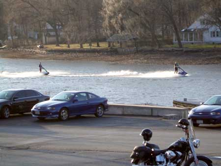 Winter Jet Skiing on Greenwood Lake