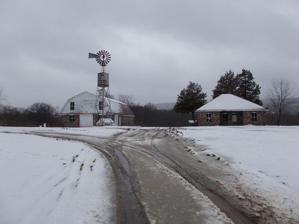 Wallisch Farm in the snow